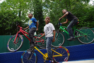 the responsibility project bikes to Bitibi - eu project promoting combining bicycles and trains for transport.